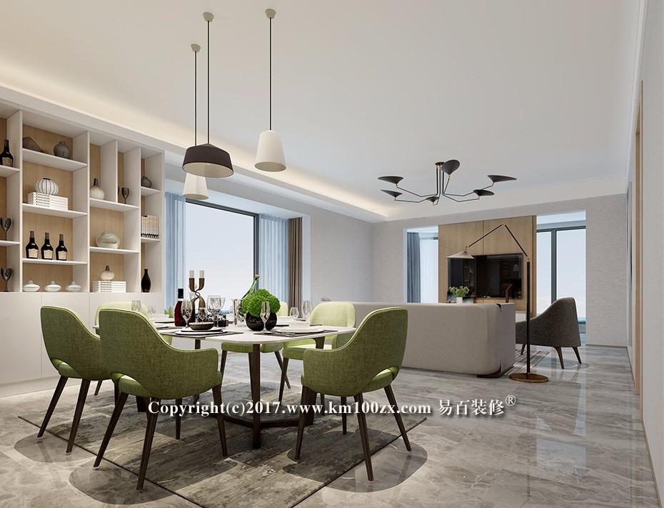 山海湾183平米现代风格客厅装修效果图