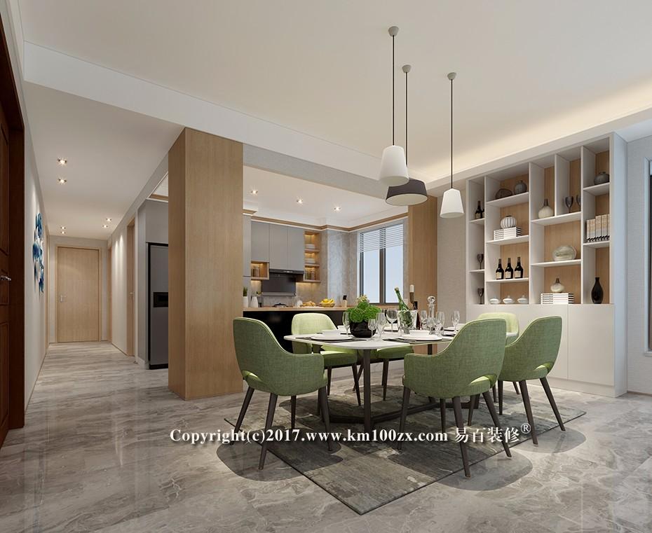 山海湾183平米现代风格餐厅装修效果图
