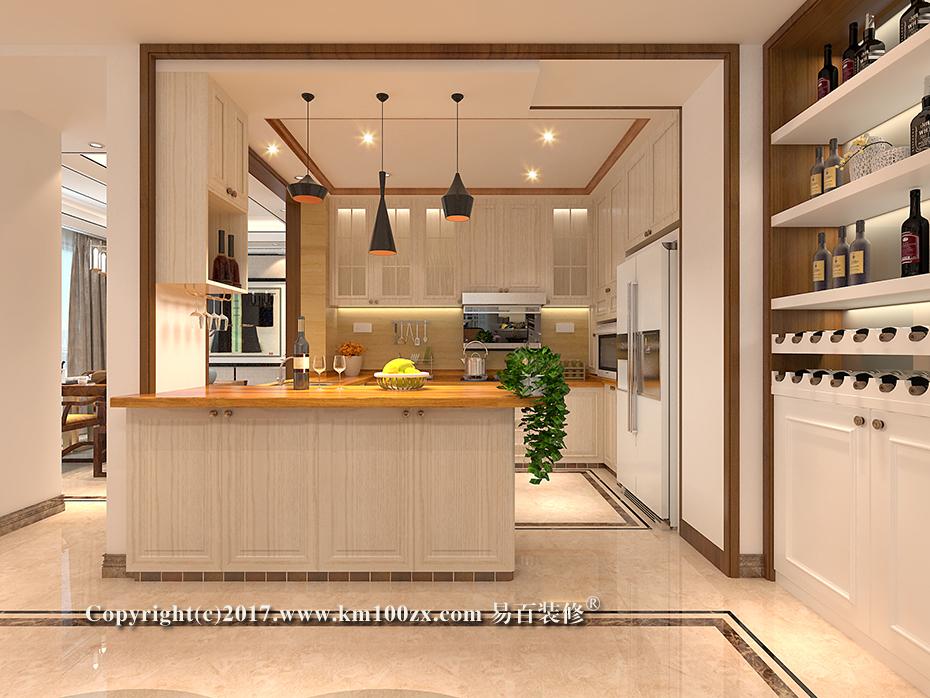 德润朗悦湾230平米简约风格厨房装修效果图