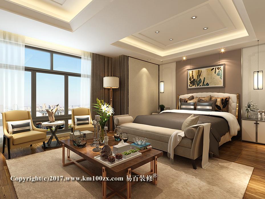 德润朗悦湾230平米简约风格卧室装修效果图