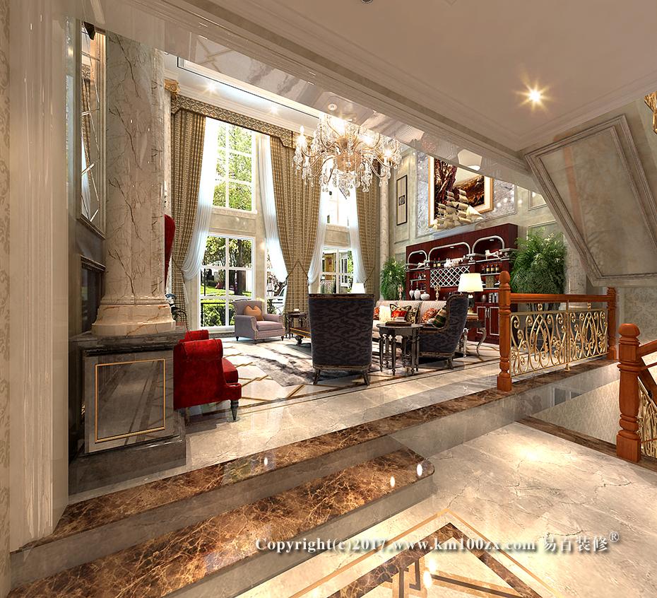 泸西460平米法式风格客厅装修效果图