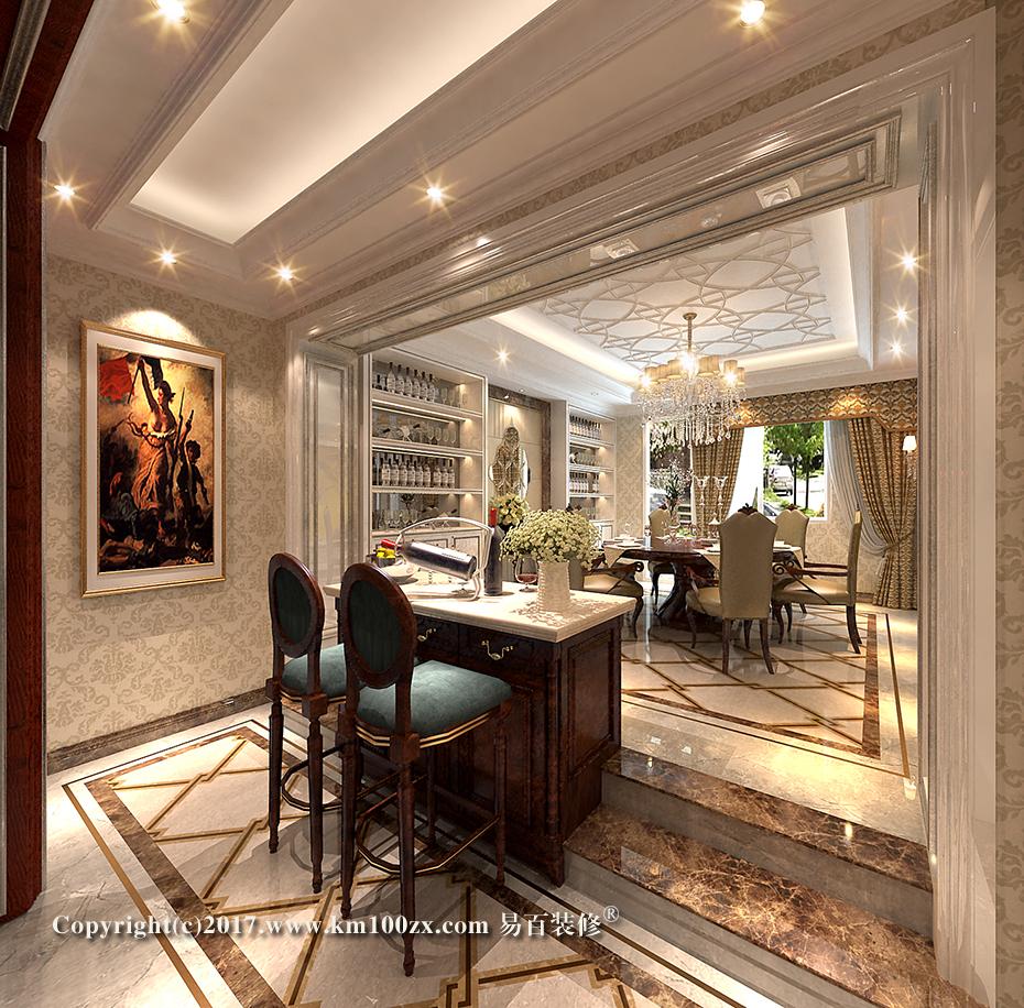 泸西460平米法式风格餐厅装修效果图