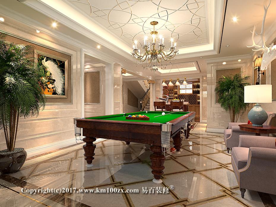 泸西460平米法式风格娱乐室装修效果图