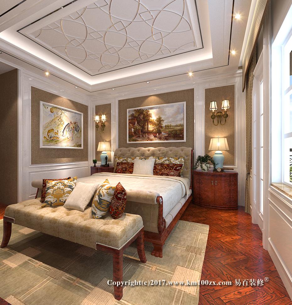 泸西460平米法式风格卧室装修效果图