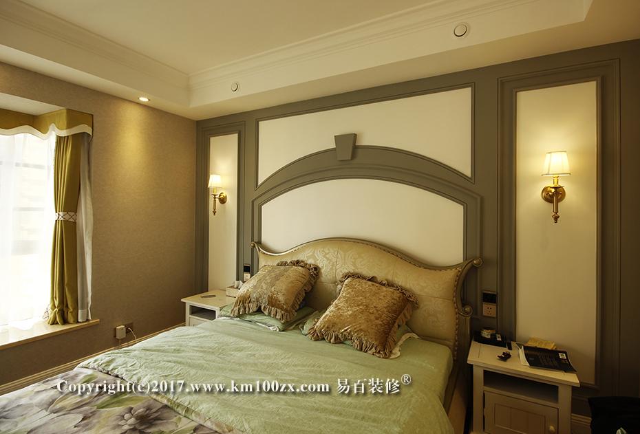 中洲阳光210平米美式风格卧室装修实景图